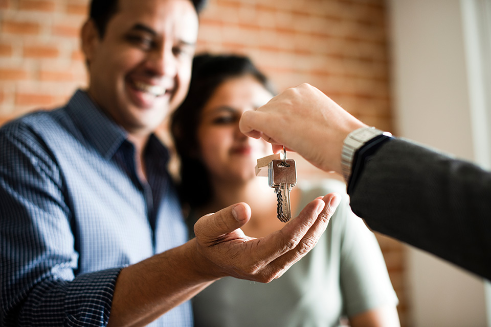 couple purchasing home